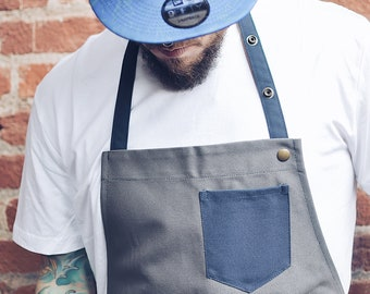 2 color apron, fabric