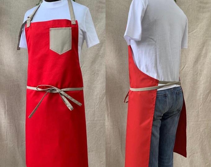 100% fabric apron, handmade in Quebec