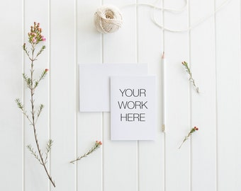 Styled Stock Photography, Greeting Card Mockup, Blank Card, Styled Photography, Mock Up, Styled Desk Top, Product Photography