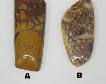 Stone Canyon Jasper -Sagenite - Needle  Agate - Designer cabochon - Lot 122