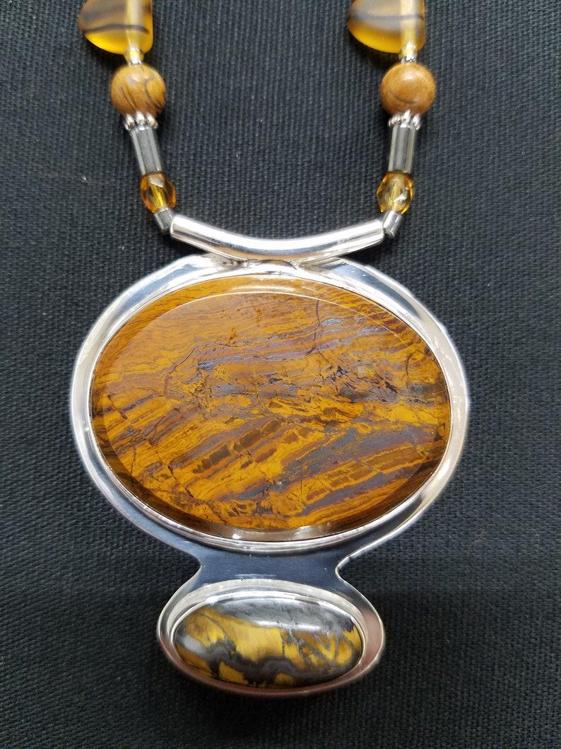 Tigereye beaded necklace 72 image 0