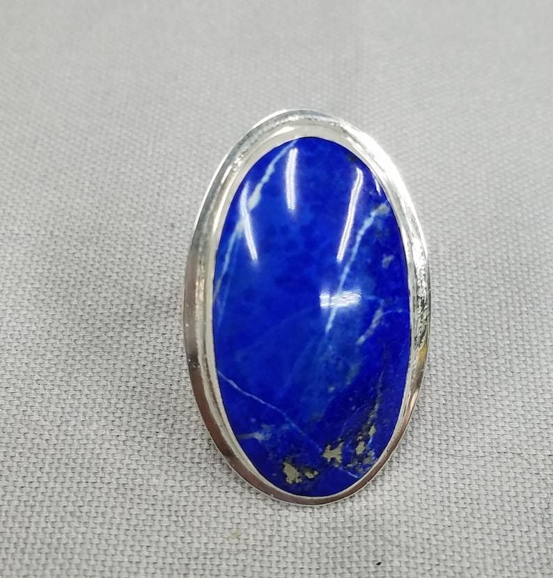 Lapis Lazuli sterling silver ring 166 image 0