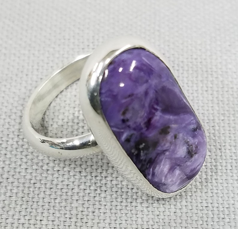 Charoite sterling silver ring 167 image 0