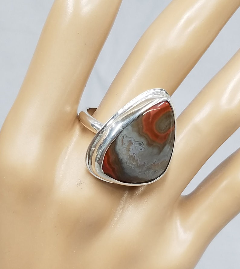 Kentucky Agate sterling silver ring 140 image 0