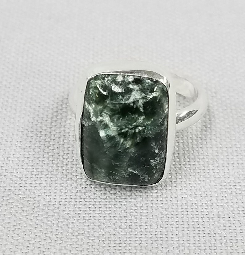 Seraphinite Sterling Silver ring 68 image 0