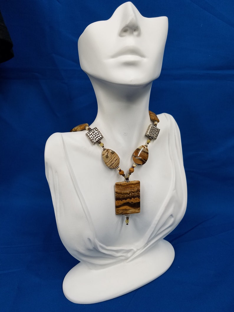 Desert Banded Onyx bead necklace 288 image 0