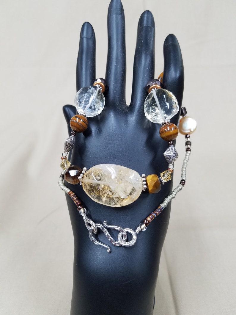 Citrine beaded necklace 479 image 0