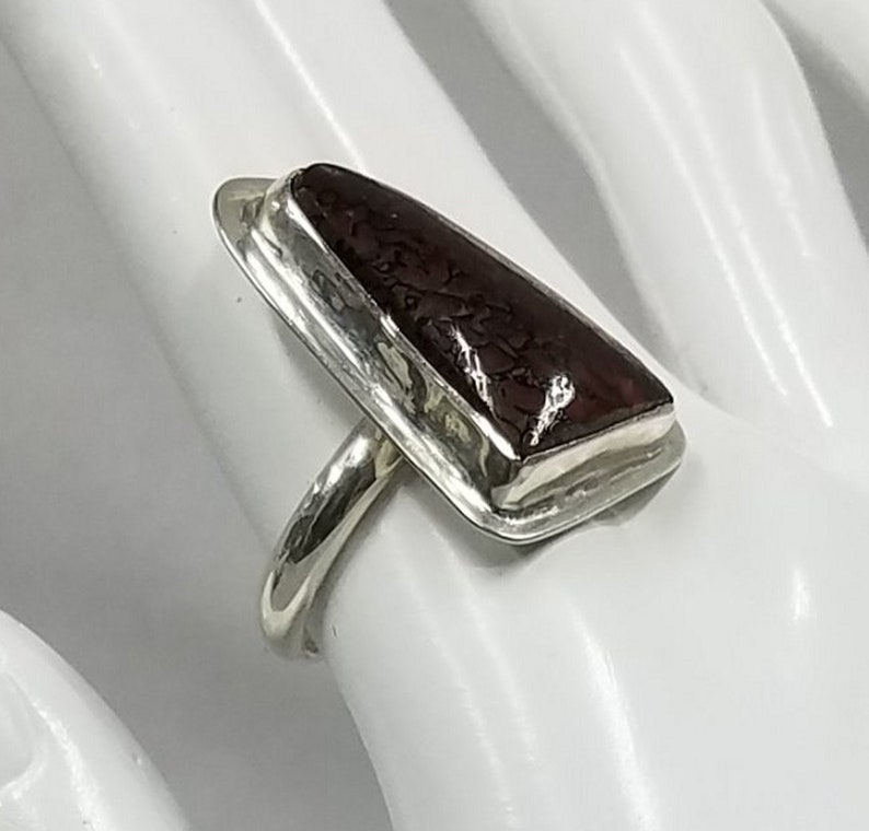 Dinosaur Bone sterling silver ring 65 image 0