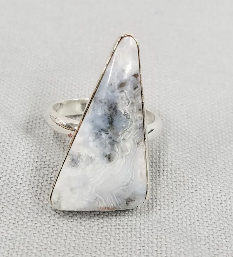 Lace Agate Sterling Silver Ring 52 image 0