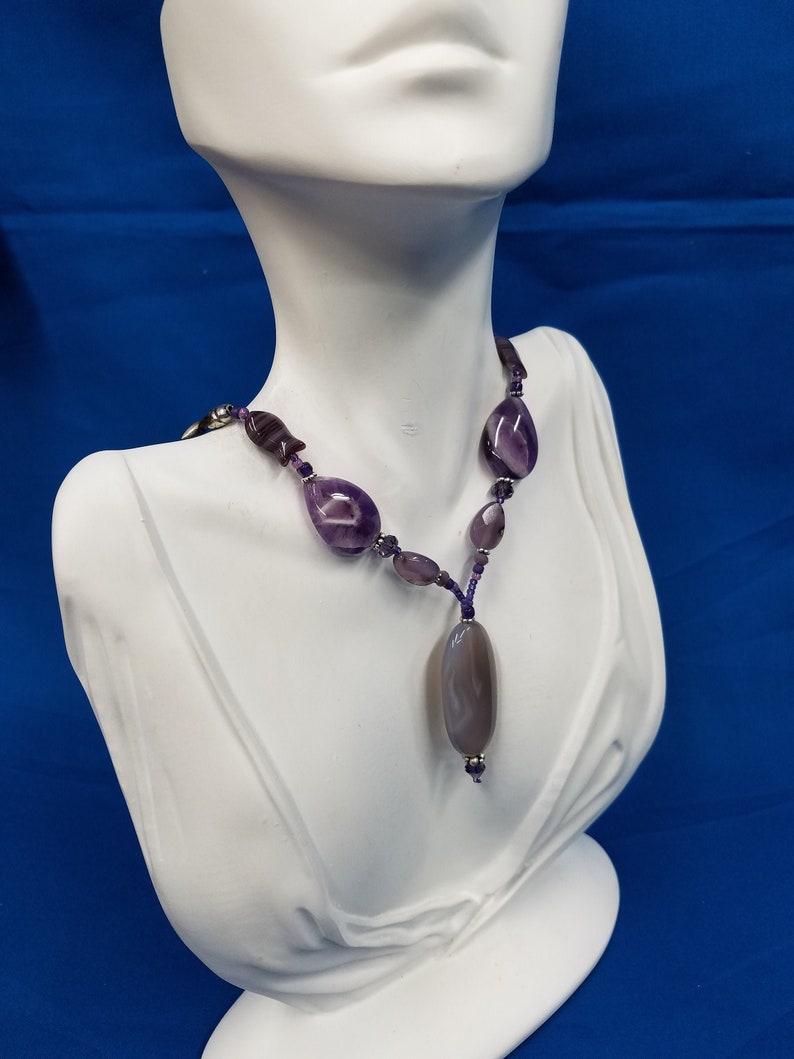 Botswana Agate bead necklace 382 image 0