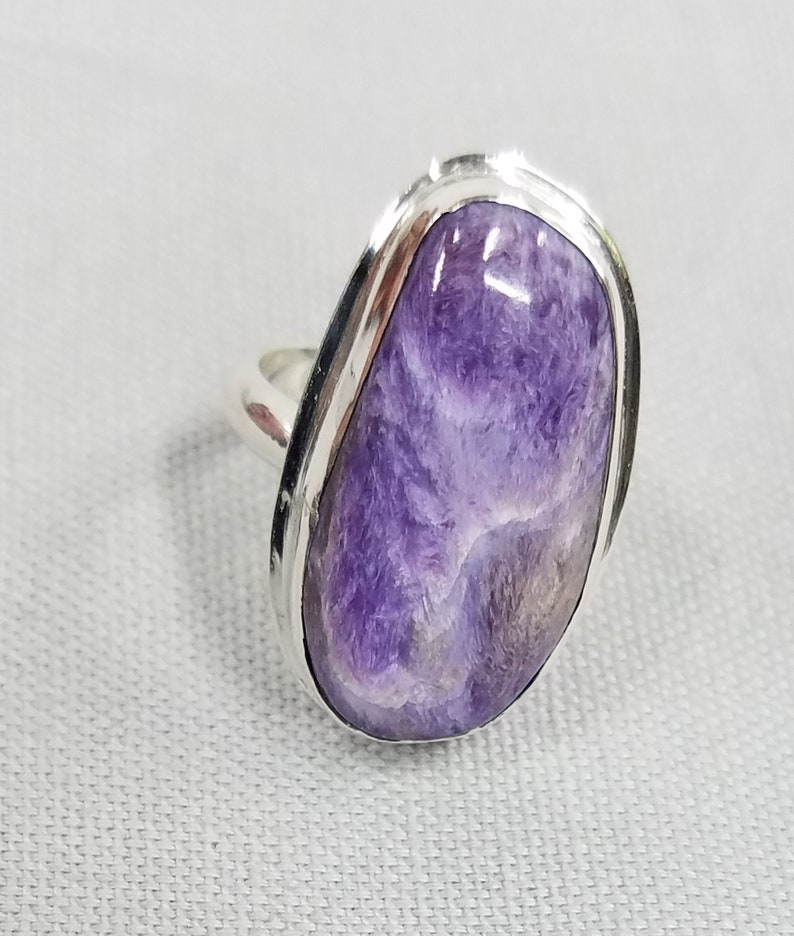 Charoite sterling silver ring 124 image 0