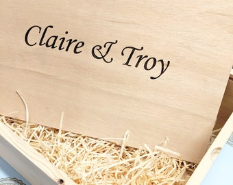 Pine Keepsake Hamper + Plywood Lid / Gift Box  / Bridesmaid Gift