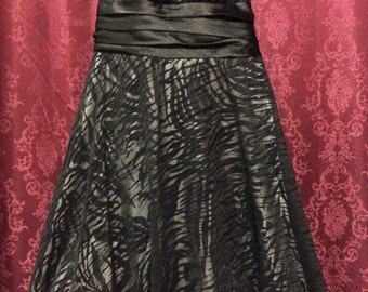 Vintage City Triangles Little Black Dress Size Small Glitter Sparkles