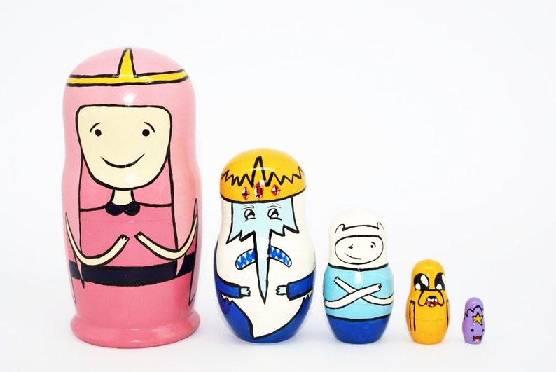 Adventure Time Cell Phone Straps Phone Charm 5pc Set Finn Jake King Princess
