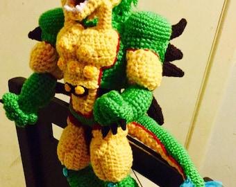 Shenon Z Warrior Amigurumi, crochet, knitting