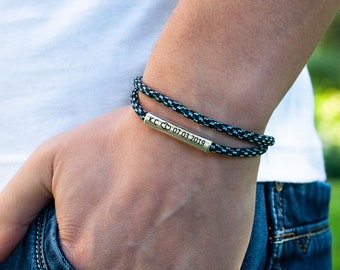long distance boyfriend gift relationship Anniversary for men, girlfriend, husband,  his and her. Long Distance Gift bracelet