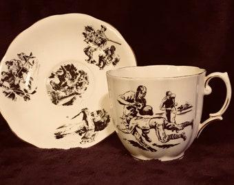 "Royal Albert Bone China Cup and Saucer ""A Man's Cup"""