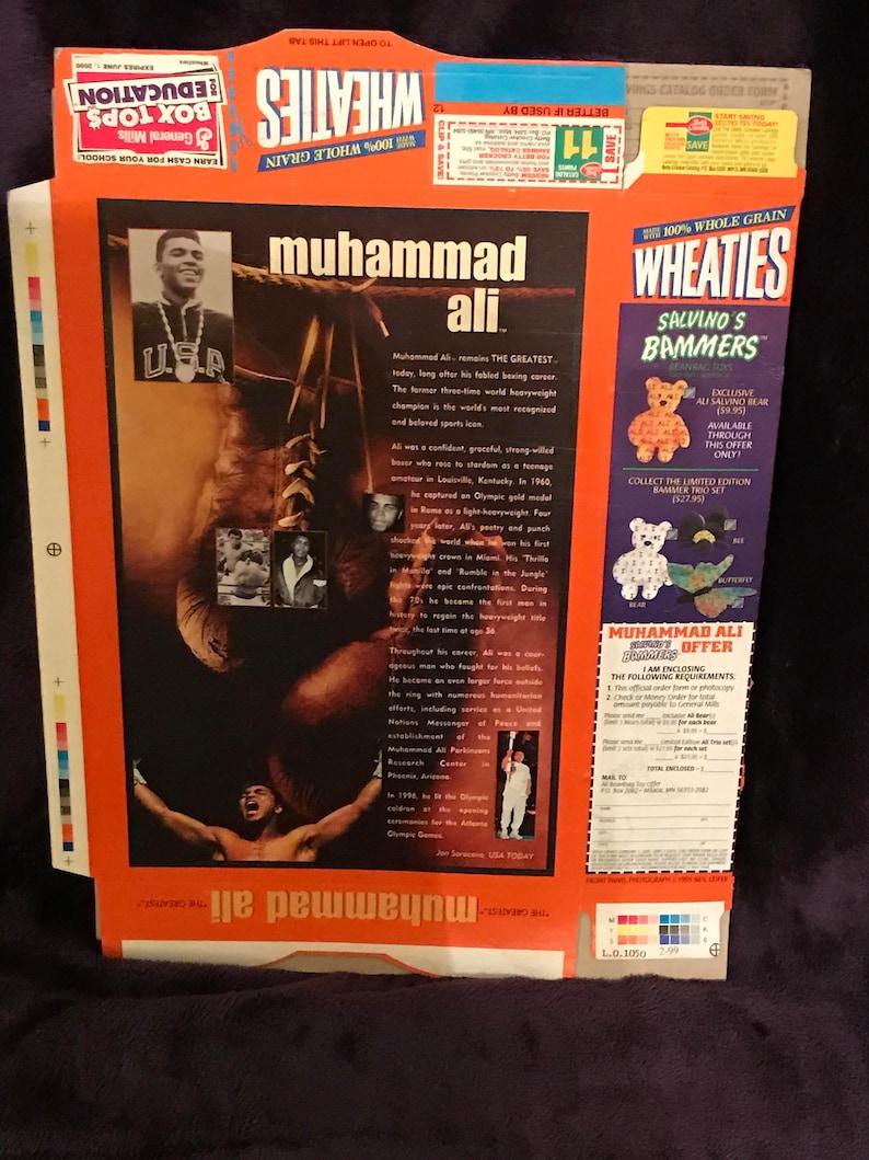 Wheaties features Muhammad Ali FOLDED