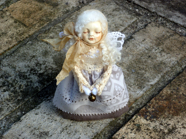 Miniature art angel OOAK Tiny fairy Art mini doll Collectible angel  figurine statuette Angel ornament Guardian angel Mini gift 3 7