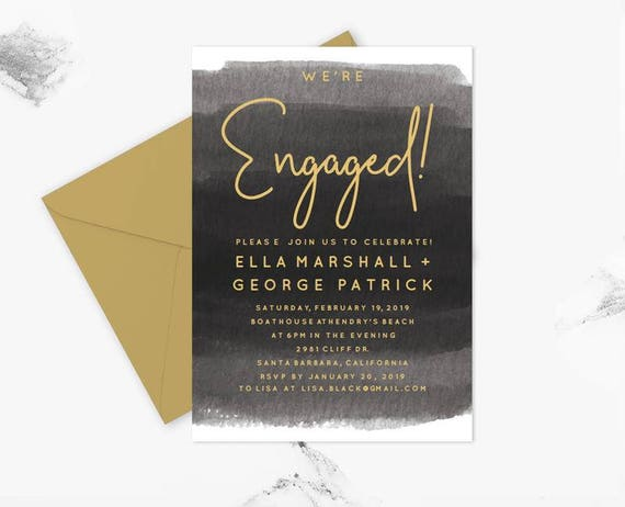 Engagement Party Invitation Template Engagement Invitation Etsy