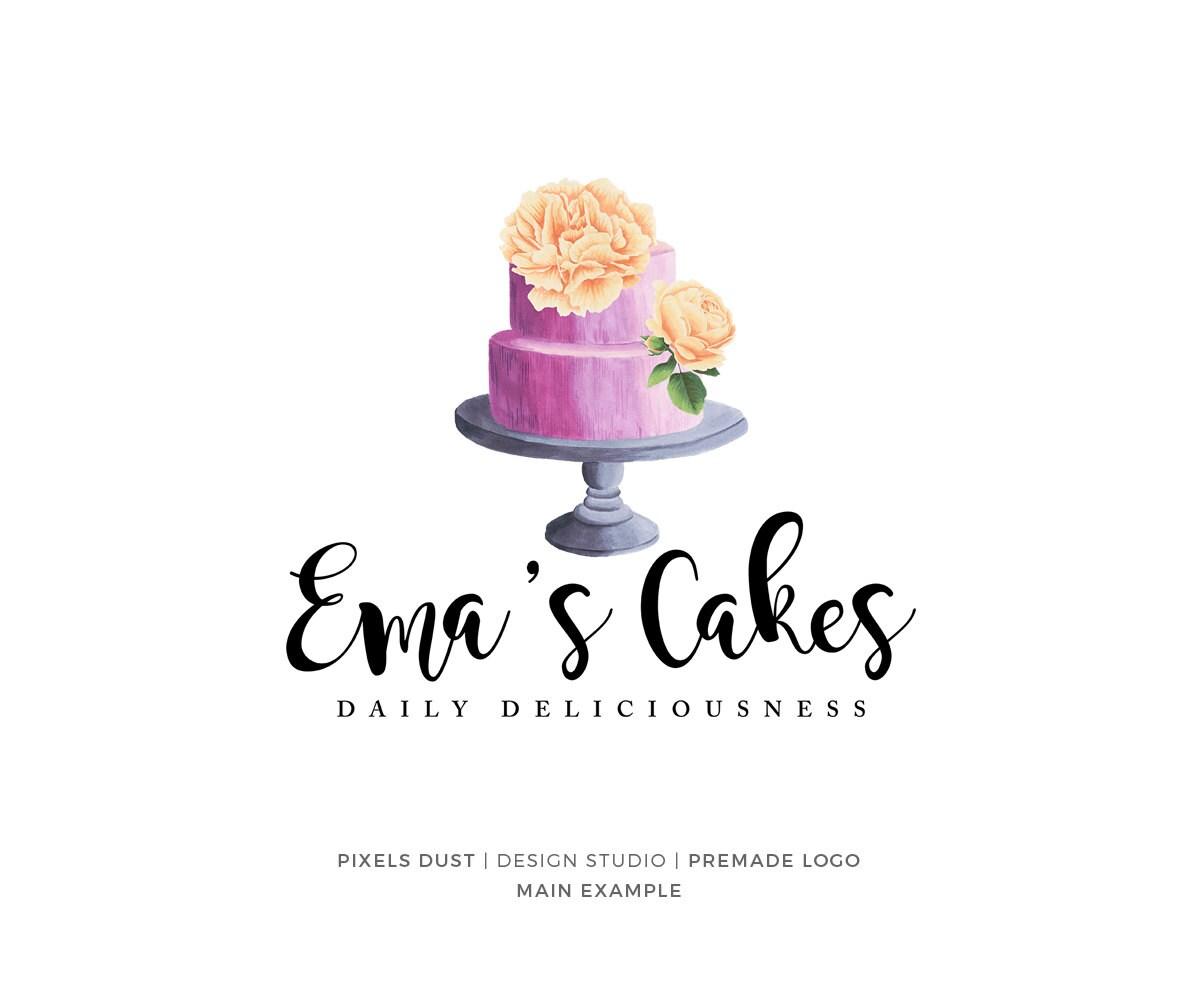 Kuchen logo logo vorgefertigten kuchen logo s igkeiten etsy for Kuchen sofort lieferbar
