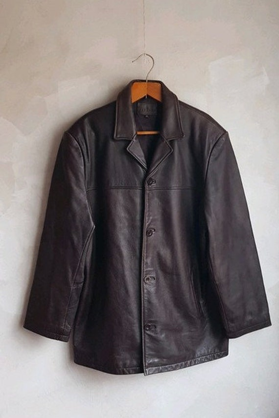 Vintage Men's  BATISTINI Real Leather Jacket Dark