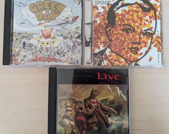 Green Day, Sponge and Live CDs - Buy One or All - Dookie/Rotting Piñata/Throwing Copper - 45529-2/7464-57800-2/08811-09972 - 1994//1994/1994
