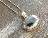 Silver necklace - Dendritique Agate