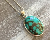 silver necklace - Turquoise