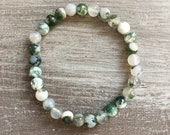 Foam agate bracelet (8mm)