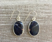 Silver earrings - Sodalite