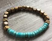 Turquoise elastic bracelet