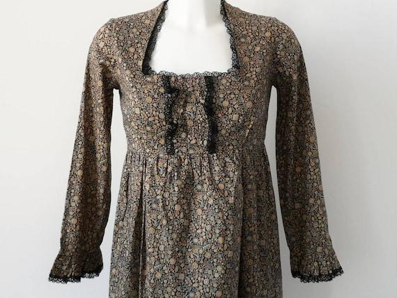 1960's Liberty Print Cotton Maxi Dress by Marion D