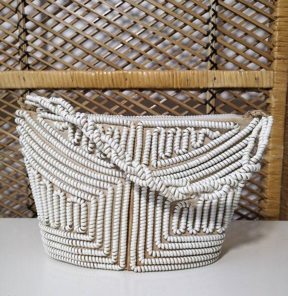 Original 1940's Cream Telephone Cord Handbag