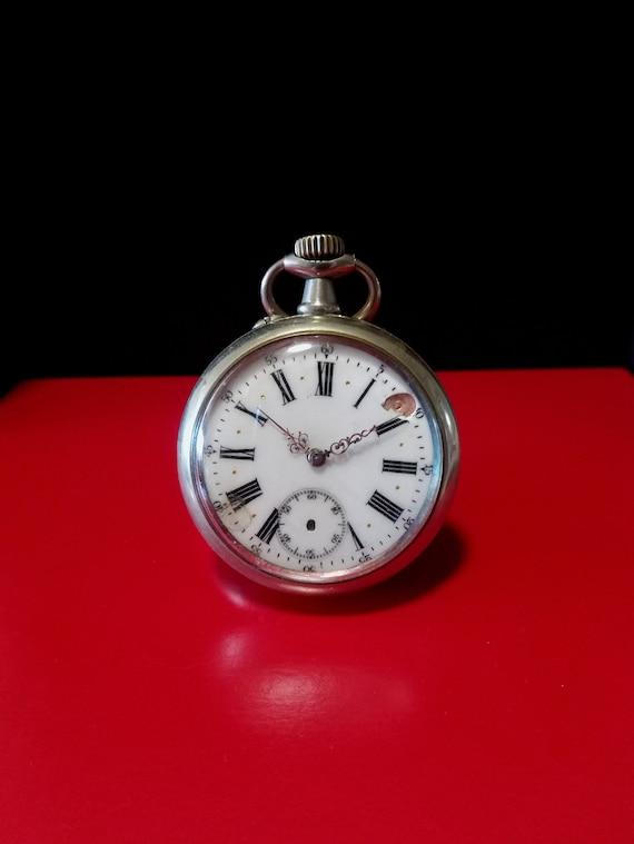 Antique 1890's French Argentan Pocket Watch, antiq