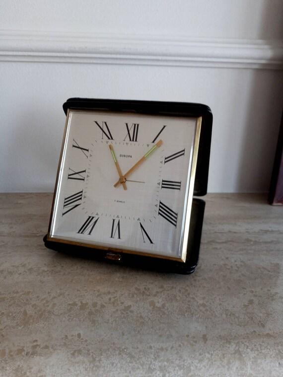 RÉVEIL EUROPA, Europa allemand Vintage Table radio réveil, 1970 ' s Europa alarme horloge de Table, Table réveil des années 1970, réveil allemand