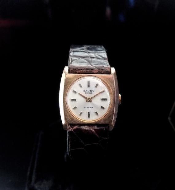 SWISS CAUNY PRIMA Lady's/Women's Gold Plated Wrist
