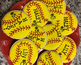 Softball Cookies