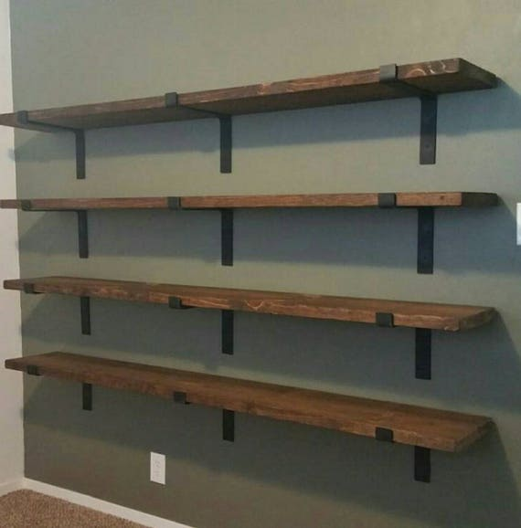 shelf brackets heavy duty floating shelves farmhouse decor etsy. Black Bedroom Furniture Sets. Home Design Ideas