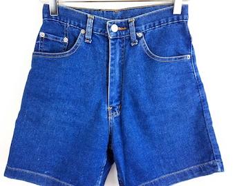 VTG 90s Bolero Womens Jean Shorts Stretch High Waisted Indigo Wash Hot Pants 6