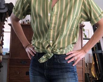Vintage Van Hussen stripe button up