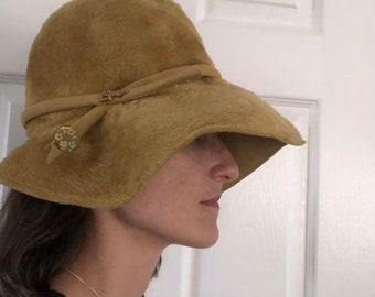 Duchess Soft mustard floppy hat
