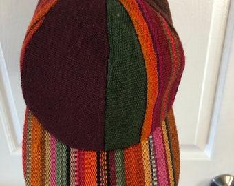 Peruvian woven baseball hat