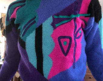 80s Abstract Sweater