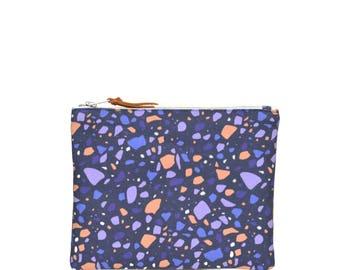 Handmade wallet - terrazzo pattern