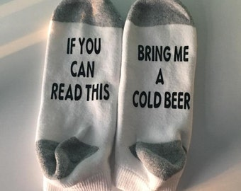 If you can read this, bring me a cold beer. Fathers day gift, godfather gift, will you be my groomsmen gift.