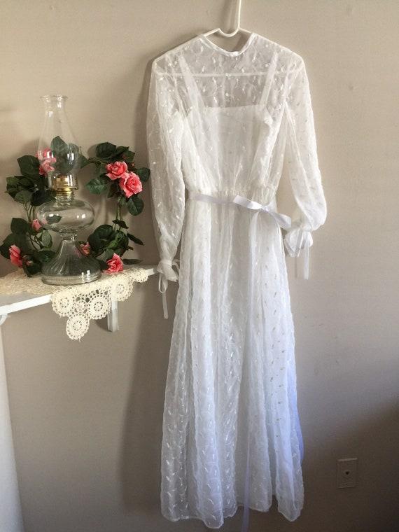 Vintage '70's Handmade Wedding Dress