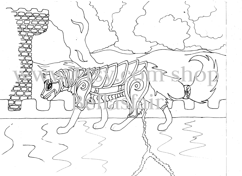 Hand gezeichnet Wolf Malvorlagen Wolf Malvorlagen Turm