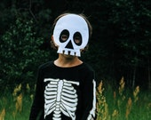 Skull mask, kids Halloween costume, adults skeleton dress up, Dias de los muertos costume, felt sugar skull mask, undead mask, masquerade