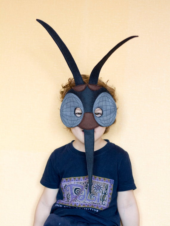 Mosquito felt mask insect costume children mosquito mask etsy image 0 maxwellsz